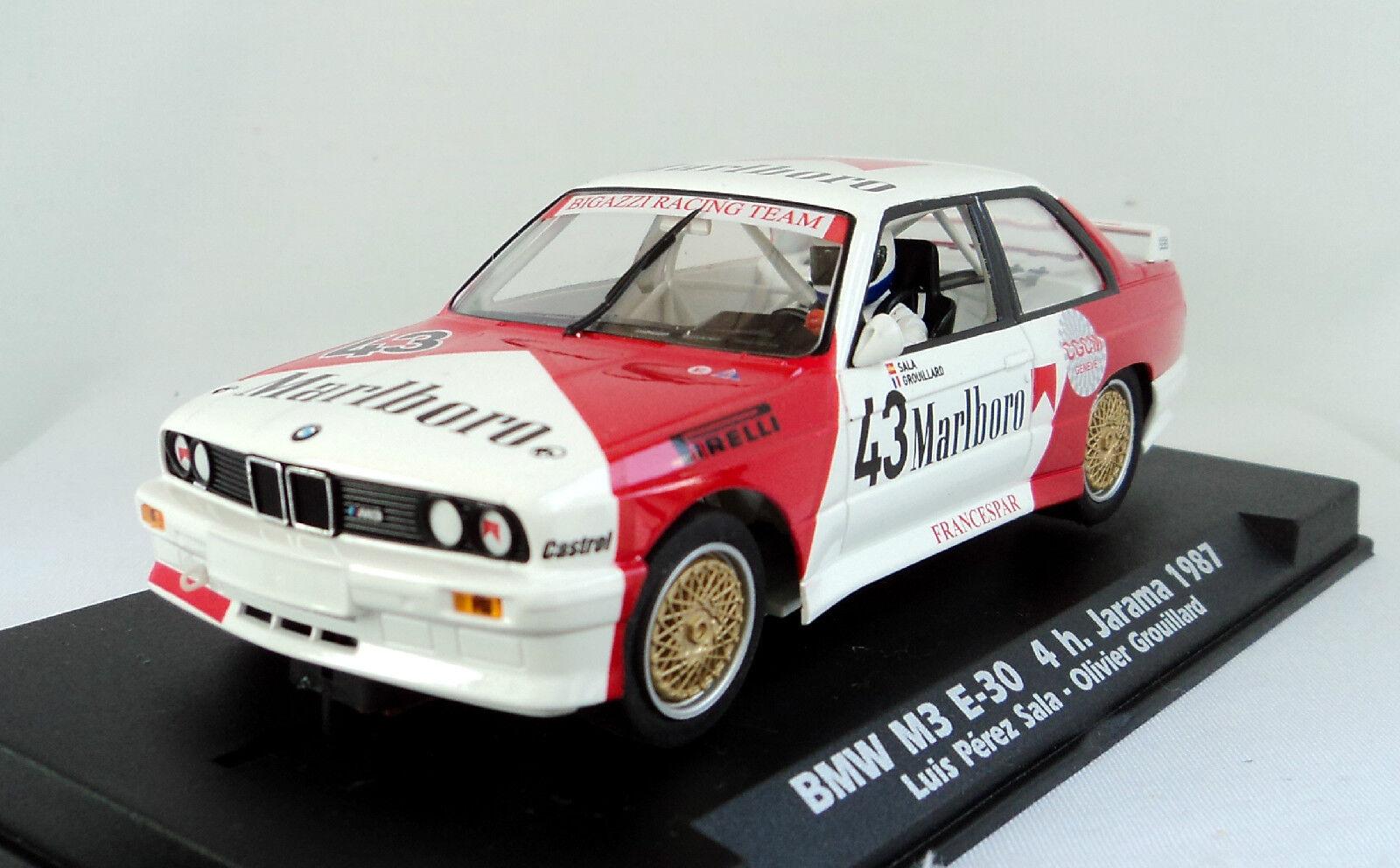 FLY 038103 BMW M3 E30 Marlbgold h. Jarama 1987 Brand New 1 32 Slot Car