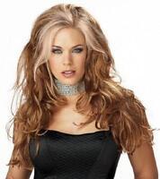 Long And Layered Reddish Blonde Seductress Wig