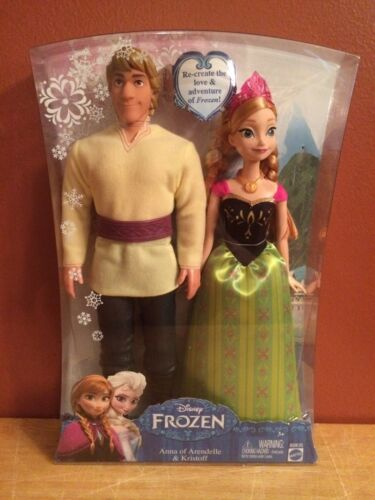 Disney/'s Frozen Anna of Arendelle and Kristoff Doll Set Brand New