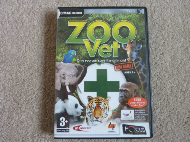 Zoo Vet  – PC CD ROM - Excellent Condition!!!