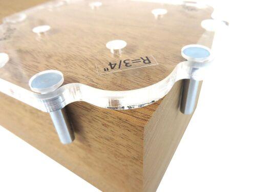 Panneau en bois rapide rayon d/'angle table Bits routeur Jig angle modèles 3pcs