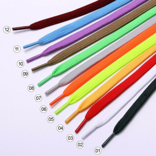 1 Pair 100cm Flat Popular Sports Shoes Laces Casual Canvas Polyester Shoelaces B