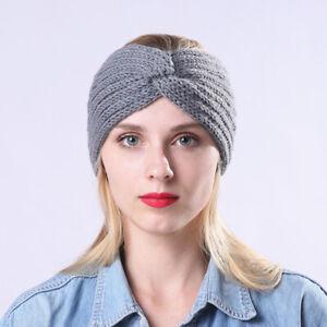 HO-Autumn-Winter-Women-Cross-Knitted-Headband-Warm-Stretch-Sport-Headwear-Novel