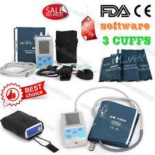 CE/FDA LCD de pression artérielle ambulatoire Moniteur 3 brassard,logiciel,PC