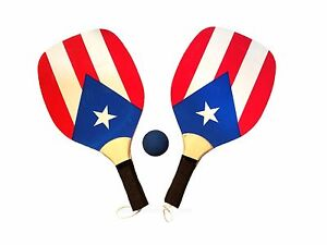 Rational Puerto Rico Paddles Beach Set Rican Boricua Ball Included Game Sand & Water Toys