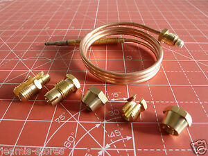 UNIVERSAL Thermocouple Kit 900mm /& Fixings Gas Boiler Oven Cooker Grill