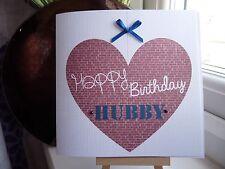 Handmade Personalised Husband Birthday Card Boyfriend Fiance Male Anniversary