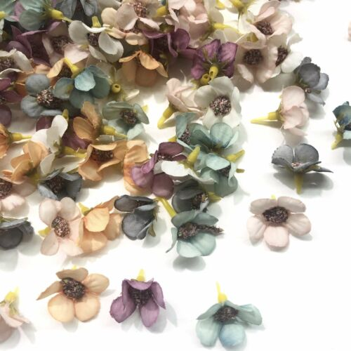 Artificial Silk Flower Heads Pastel Blossom Assorted Style 17-10 Pack
