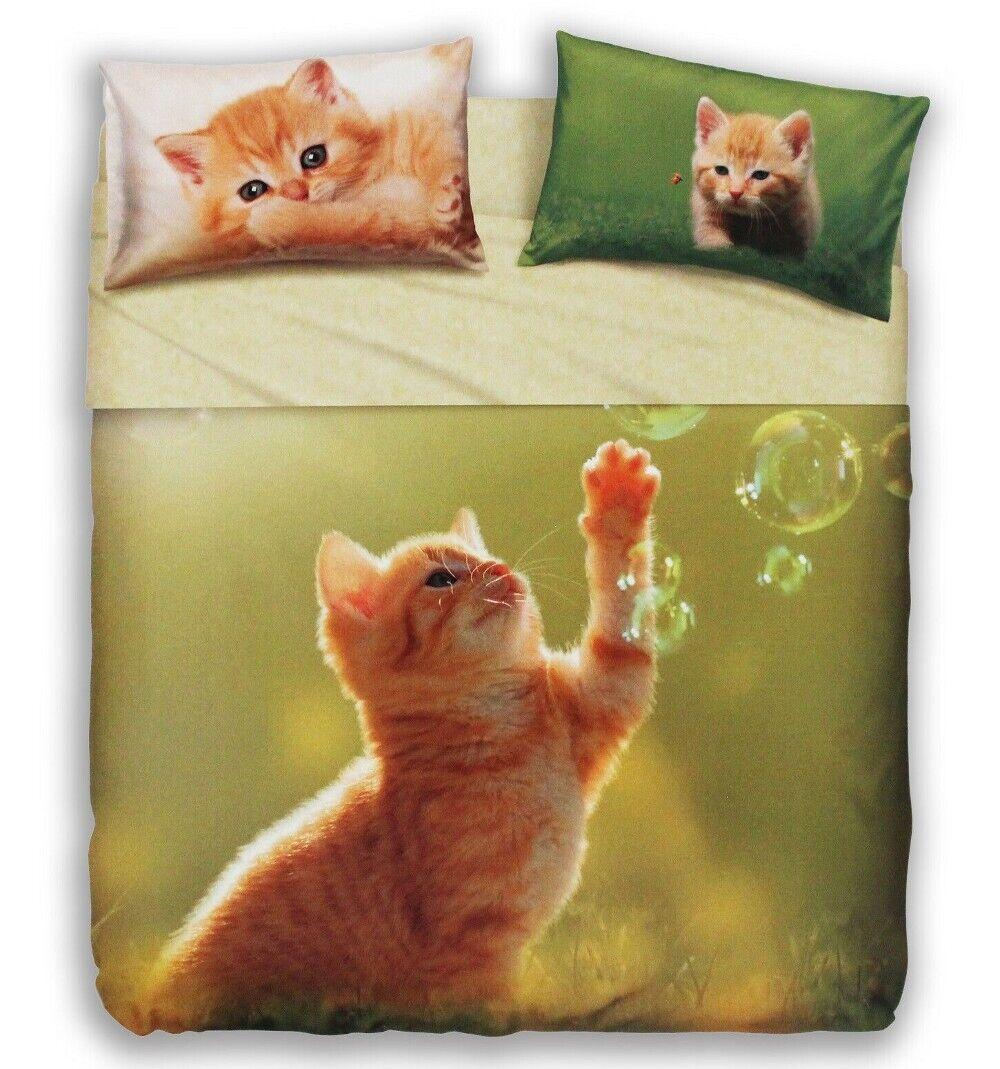 BASSETTI IMAGINE PLAY CAT Completo Letto Lenzuola  Stampa Digitale 100% Cotone
