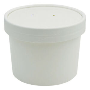 UNIQ 8 oz Ice Cream To Go Containers and Lids With Vent Holes Low