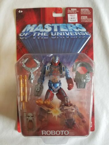 2003 MOTU 200X He-Man MASTERS OF UNIVERSE Mattel ROBOTO Action Figure MOC NEW