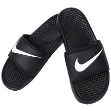 Nike Benassi Swoosh Men's Slide Black Slipper 312618-011 Free Shipping