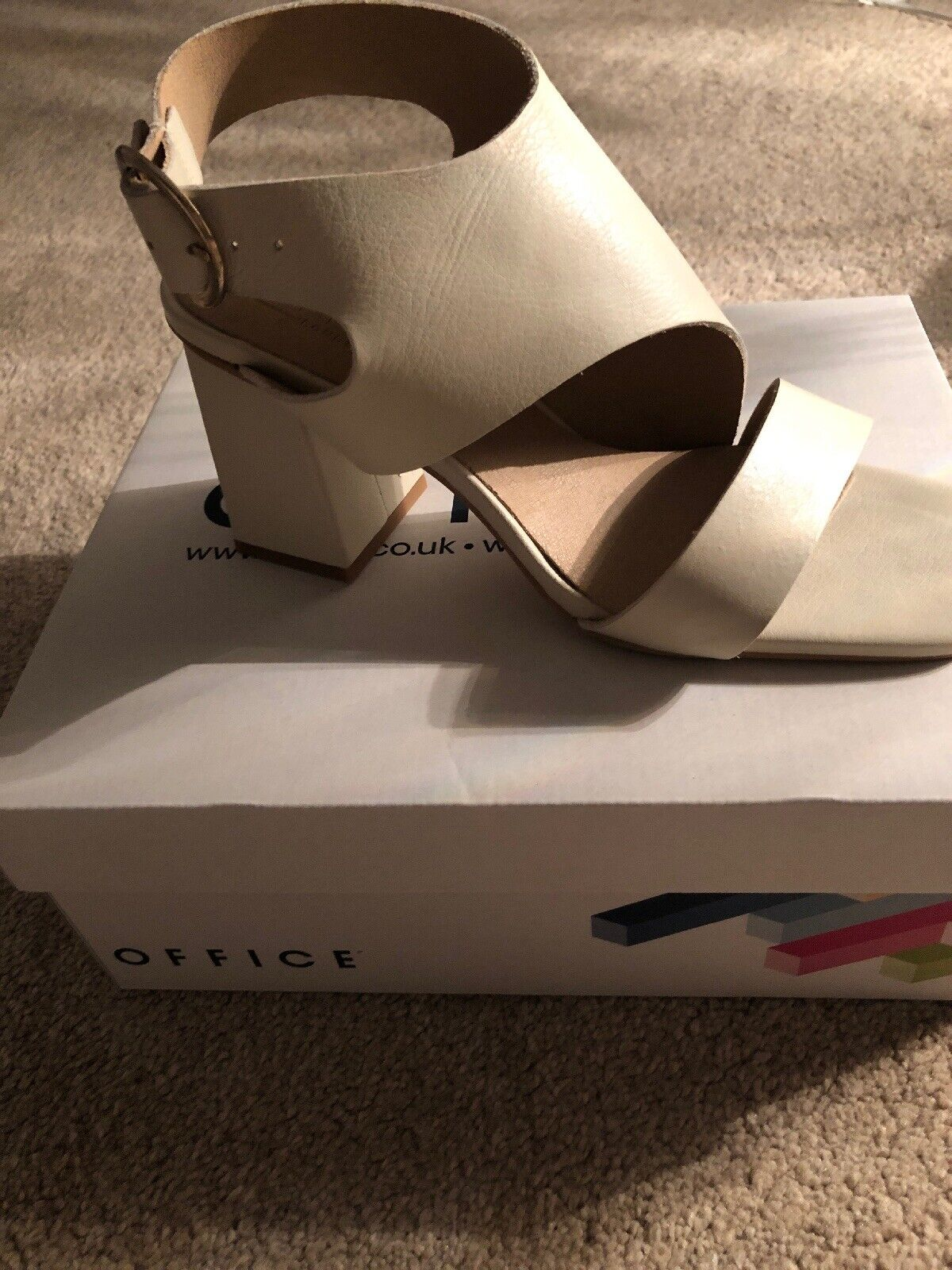 Office Ladies Off White Leather Shoe Boots Size 6 Limited Offer Only
