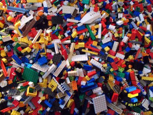 PARTS /& PIECES PLUS 2 X MINIFIGURES LEGO 750g 600 CLEAN GENUINE BRICKS