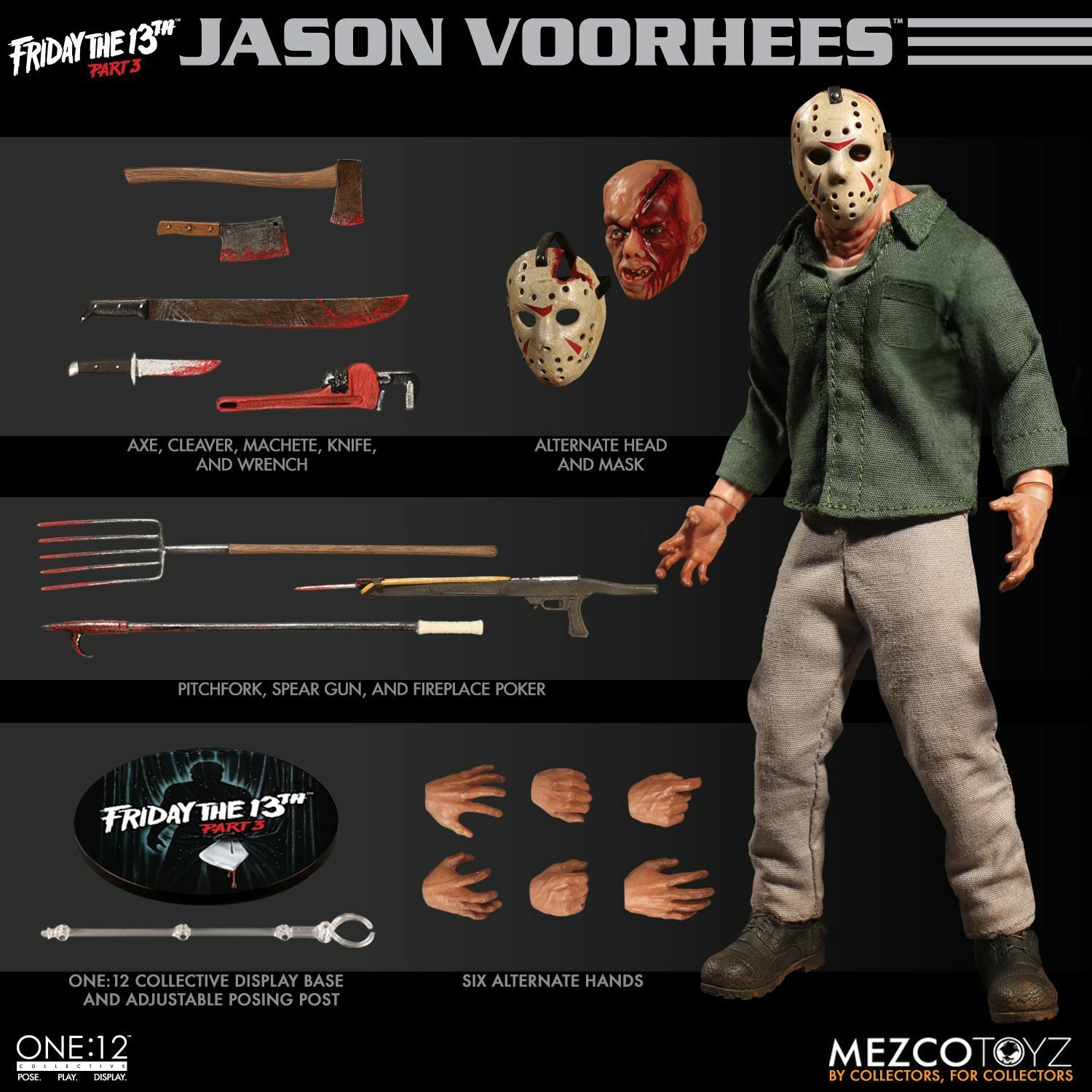 One 12 collettiva JASON VORHEES 6   azione cifra Friday The 13th PART 3 (Mezco)  grandi risparmi