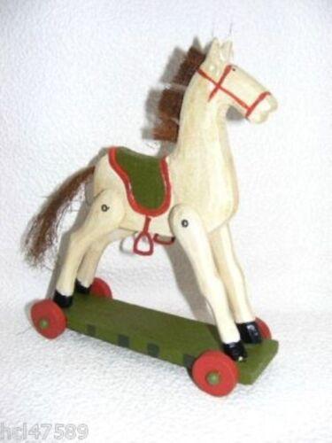 Teddy cheval à bascule sur rôles à la main 15cm NEUF top