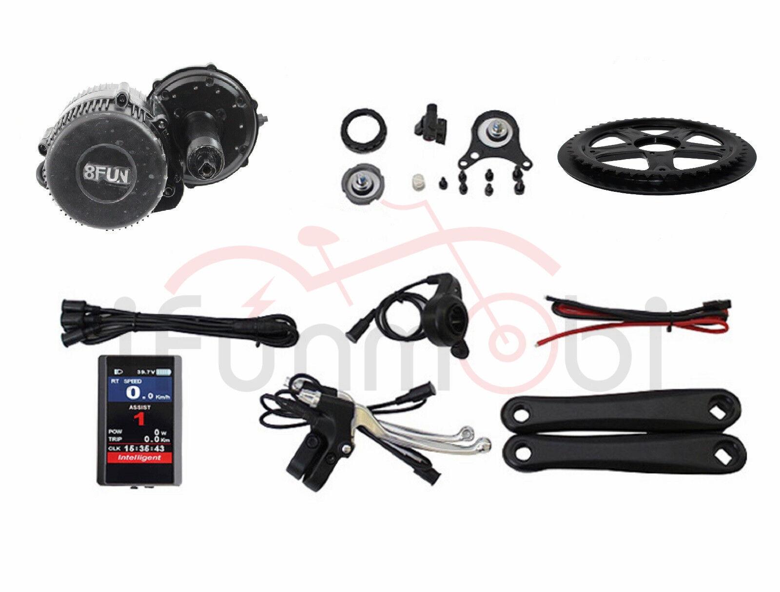 Bafang 8Fun BBS02 48V 750W Mid-Drive Motor E-Bike Conversion Kits with color LCD