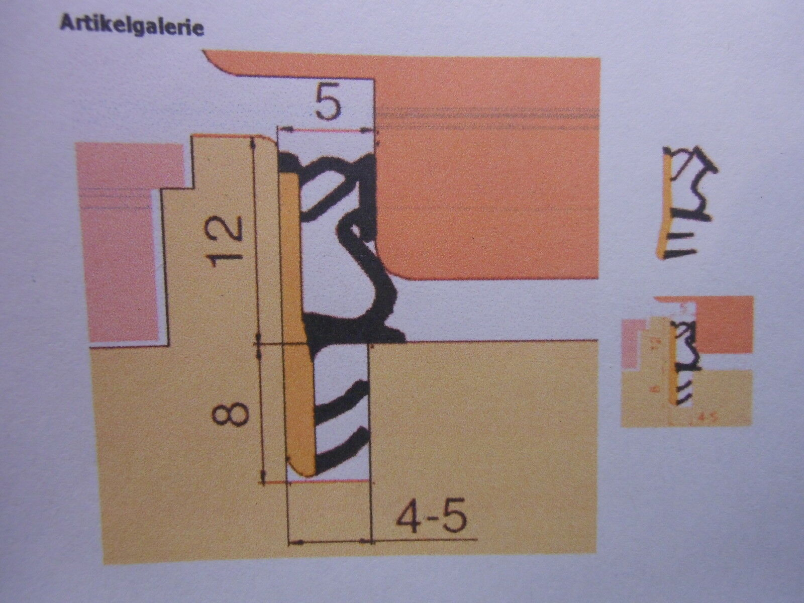 GP: /m, Fensterdichtung 50m Falzdichtung DIPRO rustikalbraun für Holzfenster