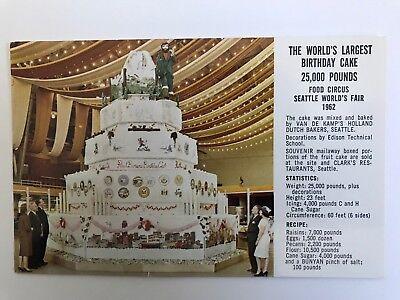 Cool Paul Bunyon Birthday Cake Postcard Seattle Worlds Fair 1962 Ebay Funny Birthday Cards Online Barepcheapnameinfo