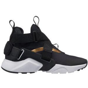 49d672f2310a Nike Huarache City Size 5Y Women s 6.5 Black Metallic Gold White ...