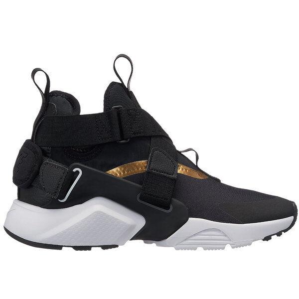 big sale 80e19 c2773 Nike Huarache City Size 5y Women s 6.5 Black Metallic Gold White Aj6662 005  for sale online   eBay