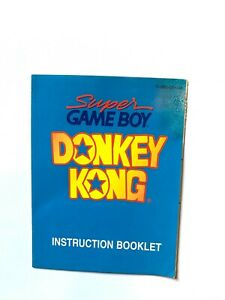 Donkey Kong Super Game Boy Original Nintendo Gameboy Instruction Manual Only