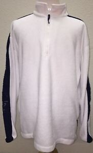 Vintage-Nautica-Competition-1-4-zip-Fleece-Pullover-White-Sweater-Size-2XL-XXL