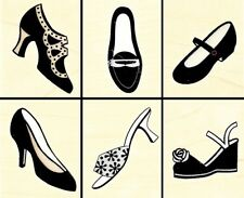 FANCY SHOES Rubber Stamps LL785 Hero Arts Stencil Print S/6 NEW! fashion heels