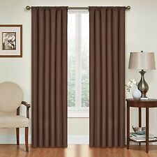Eclipse Kendall Blackout Thermal Curtain Panel,Chocolate,63-Inch