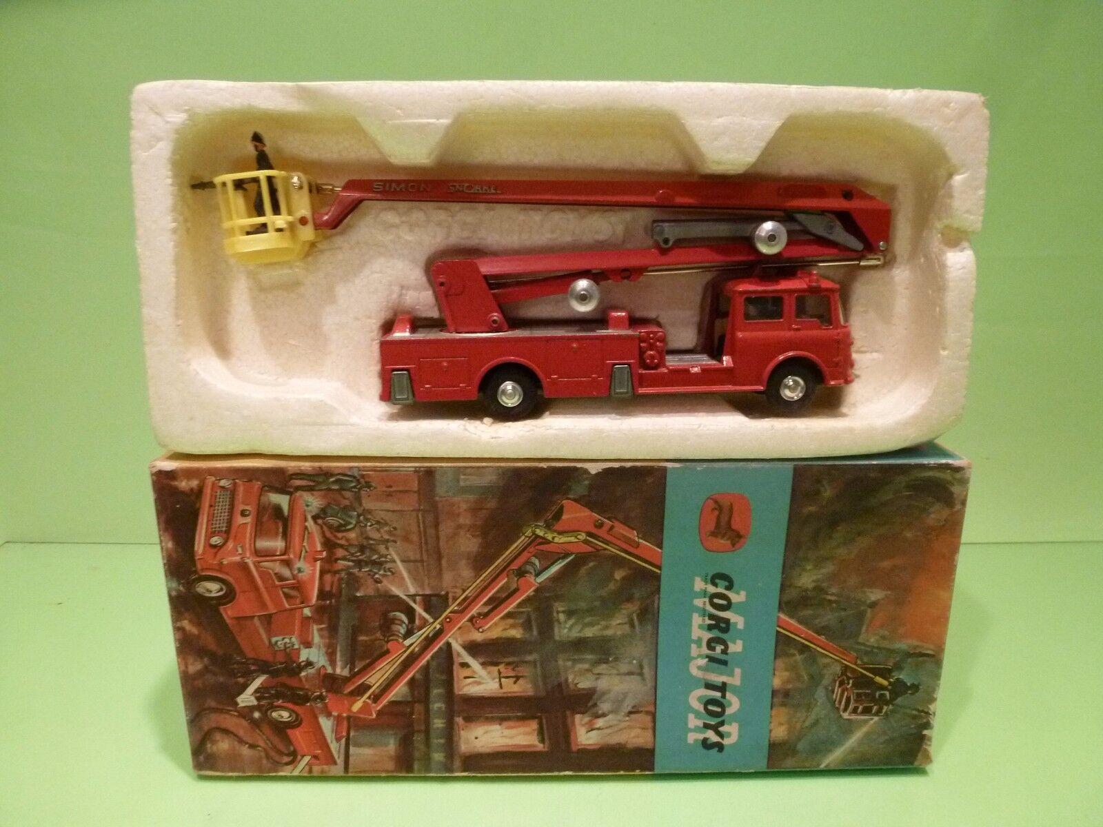 CORGI TOYS 1127 BEDFORD SIMON SNORKEL FIRE ENGINE - rot - GOOD CONDITION IN BOX