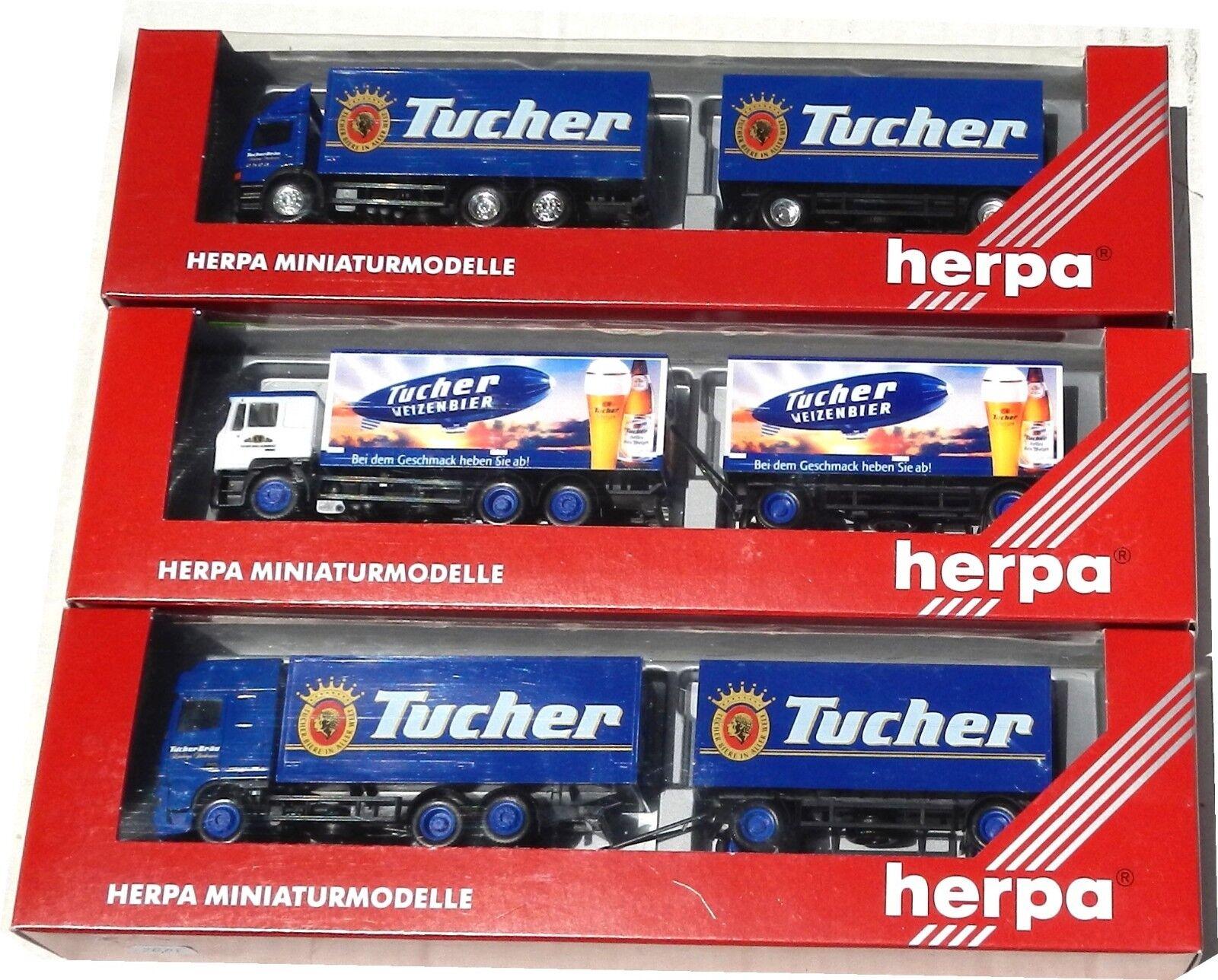 lo último Sonderpreis;  HERPA 3 x   TUCHER Bier    ( 146333,  187008,  187848), 1 87, mb  en linea