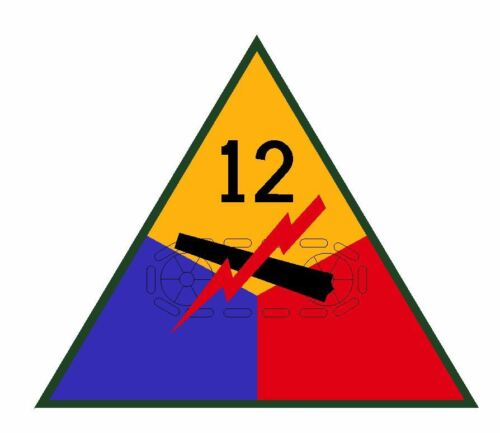 12th Armored Division Sticker Military Decal M361