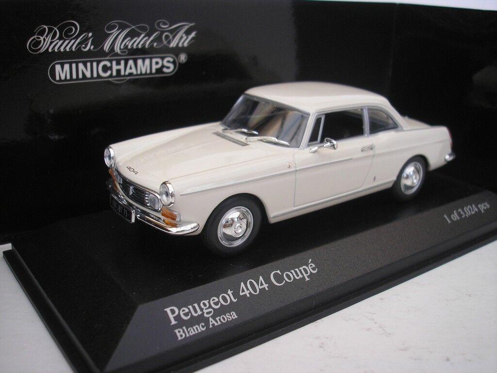 PEUGEOT 404 coupé 1962 Cream 1 43 Minichamps 400112620 NEUF