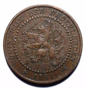 1901-Netherlands-One-1-Cent-Wilhelmina-034-KONINGRIJK-034-Lot-210