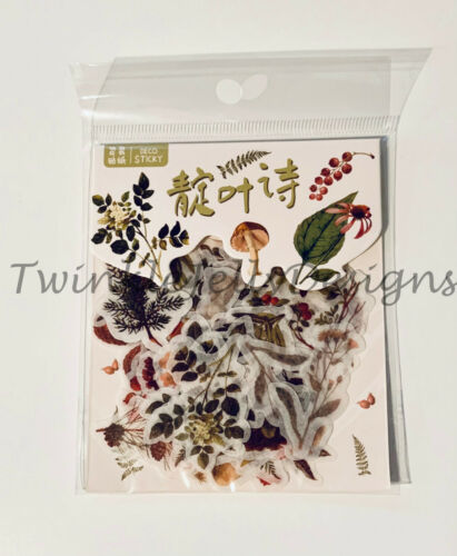 Nature Sticker Pack 40 stickers scrapbooking bullet journal christmas Autumn