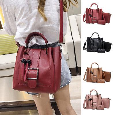 3pcs Women S Pu Leather Handbag