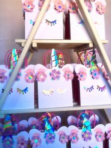 Image Is Loading Brand New Personalised Unicorn Party Bags Magical
