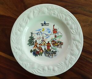 Rare Chamonix Mont blanc collectible plate by Claude Faucanié (Made in France)