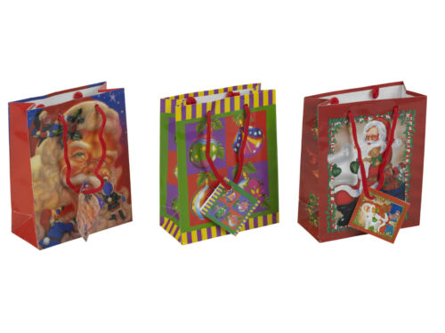 """6 X Navidad Regalo De Navidad Fiesta Bolsas-Nuevo 4.5 X 5.75 /"""""""