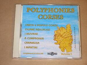 RARE-CD-POLYPHONIES-CORSES-VOL-1-EXCELLENT-ETAT