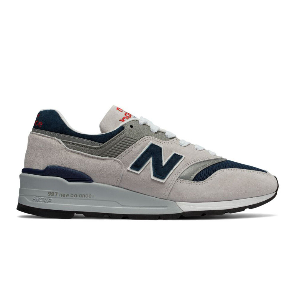 New Balance 997 Grey & Navy   M997WEB   Men's NB Suede Mesh White Made in USA