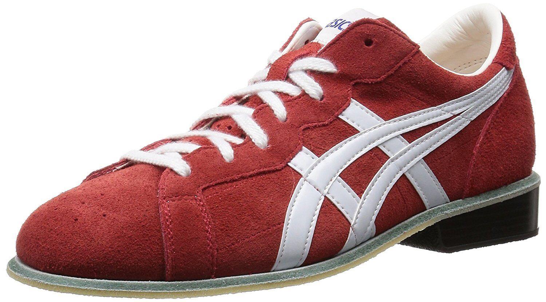Asics de Levantamiento de Pesas Zapatos 727 Cuero blancoo Rojo US7.5 (25.5 Cm) EMS con seguimiento