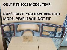 2002 Escalade Wood Grain 15 Din Dash Trim Bezel Oem Gray Radio Heater Control