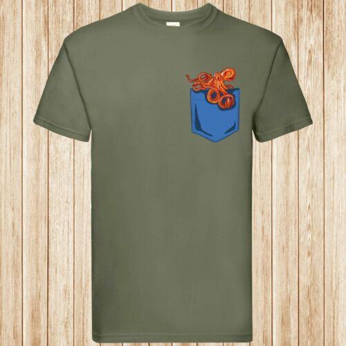 Octopus pocket t-shirt