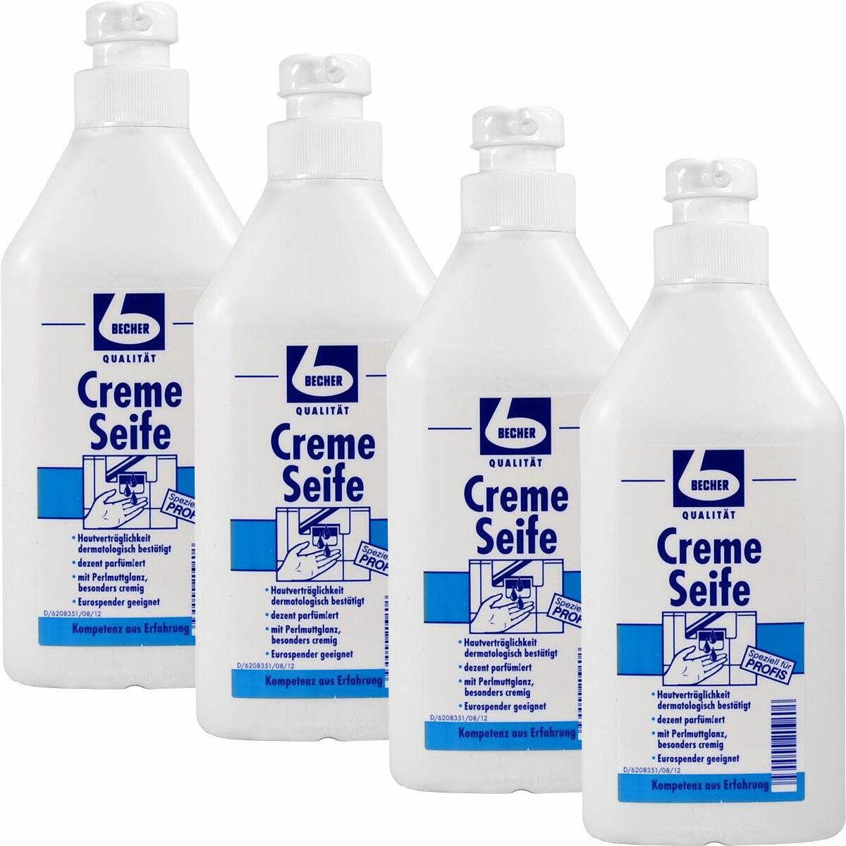 DR. BECHER Creme Seife 4 x in in in handlicher 1 L Pumpflasche 9d70dd