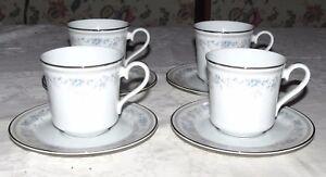 Lenox-Bluets-Bouquet-Collection-FOUR-Cups-amp-Saucers
