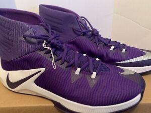 purple and white nike basketball shoes