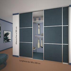 Armadio A Muro Scorrevole.Kit Completo Sistemi Scorrevoli Per Armadi A Muro 3 Ante Guardaroba Ebay