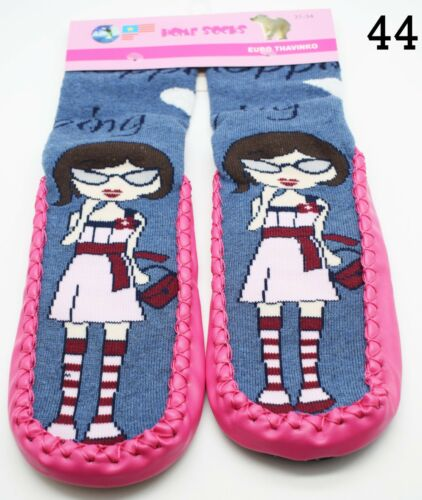 Kids Boys Girls Thermal Slipper Socks Toddler Cotton Non Slip Home Socks