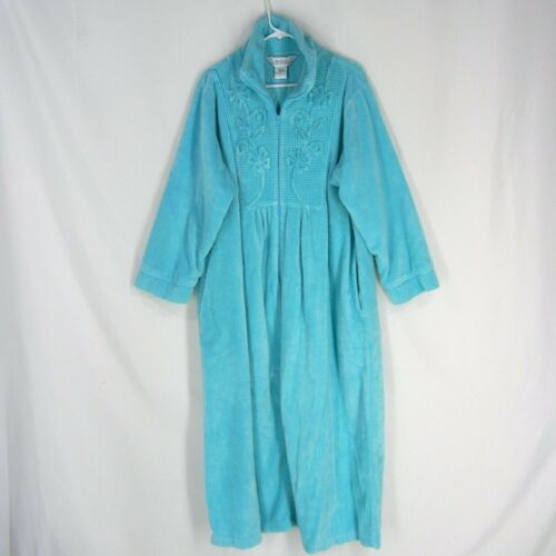 VERMONT COUNTRY STORE Plush Chenille Zip Robe XL B